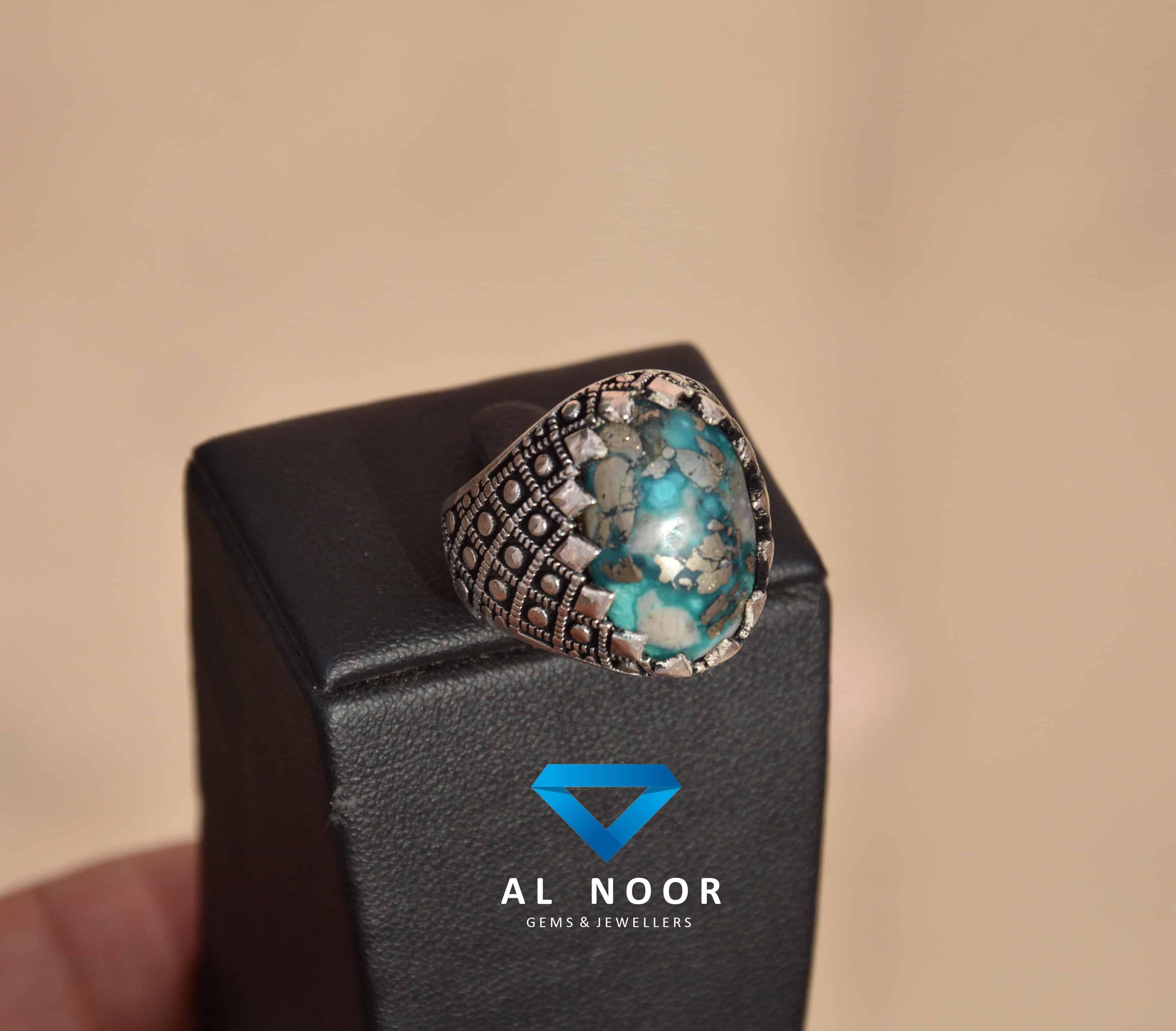 925 Turkish Ring - Irani Turquoise