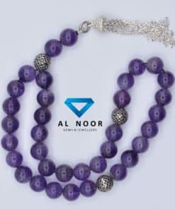 tasbih with amethyst beads