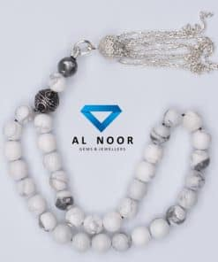 tasbih with howlite beads