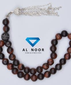 tasbih with red tiger eye beads