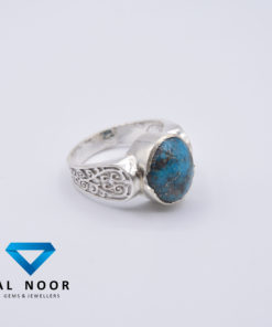 Silver rings for men with turquoise