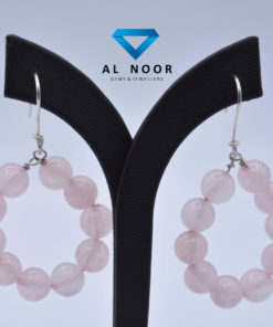 Rose Quartz Earrings inPakistan